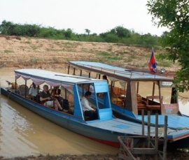 EARLY LOW WATER LEVEL OF TONLÉ SAP LAKE & TRIBUTARIES